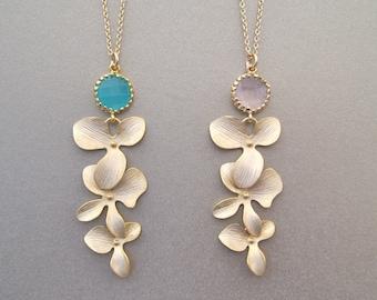 Orchid Pendant Necklace