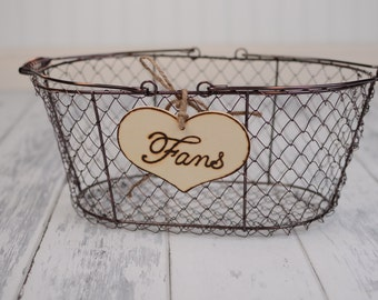 "Rustic Wedding ""Fans"" Sign  for Your Rustic, Country, Shabby Chic Wedding-Bridal Showers- Graduation etc"