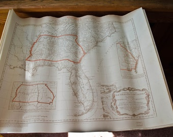 William Faden Map of Georgia, 1936 reproduction map