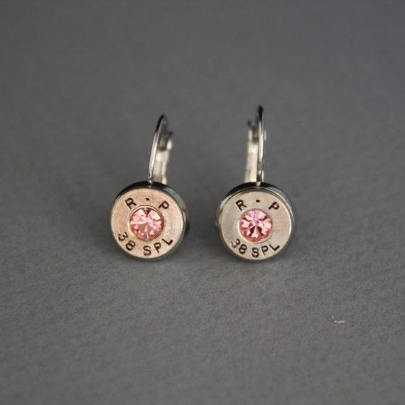 bullet jewelry bullet earrings remington peters r p 38 special