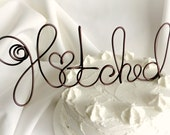 Rustic Wedding Decorations, Hitched Wire Cake Topper Style 4