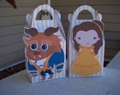 Beauty and the Beast Inspired Gable Favor Boxes Set of 12