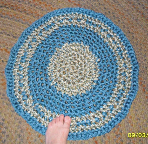 macrame blanket blue crocheted thick macrame cord indoor outdoor throw 3781