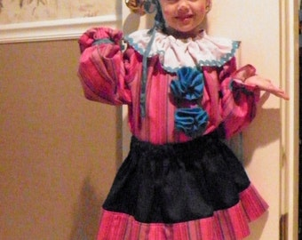 Clown Costume for Toddler Girls Handmade Size 2T to 4T PRINCESS CLOWN for Party or Halloween