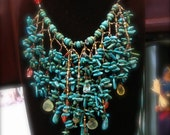 Classic Turquoise long necklace.