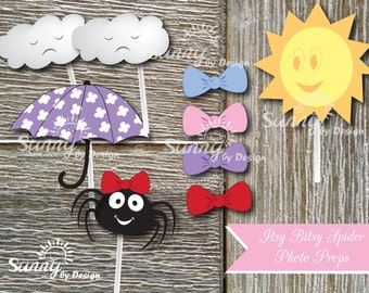 Itsy Bitsy Spider (Immediate download) printable photo booth props