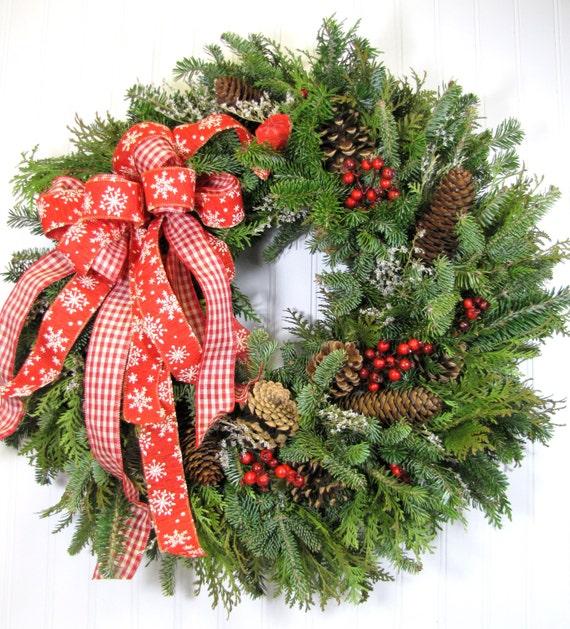 Fresh holiday wreath christmas by