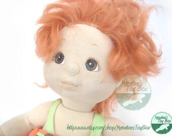 My Child Doll Redhead Boy Vintage 1980s Doll by Mattel
