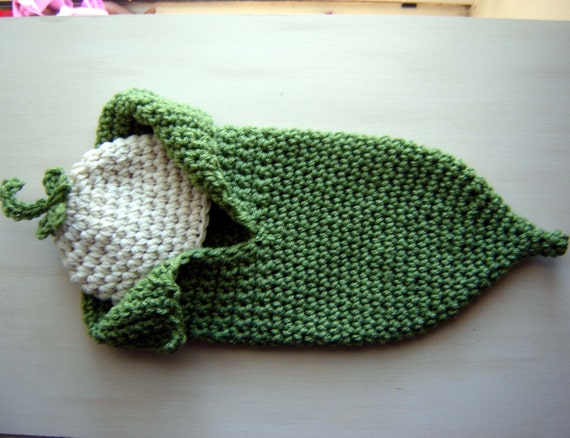 Pea Pod Crochet Cocoon And A Beanie Set By Babiesbugsandbees