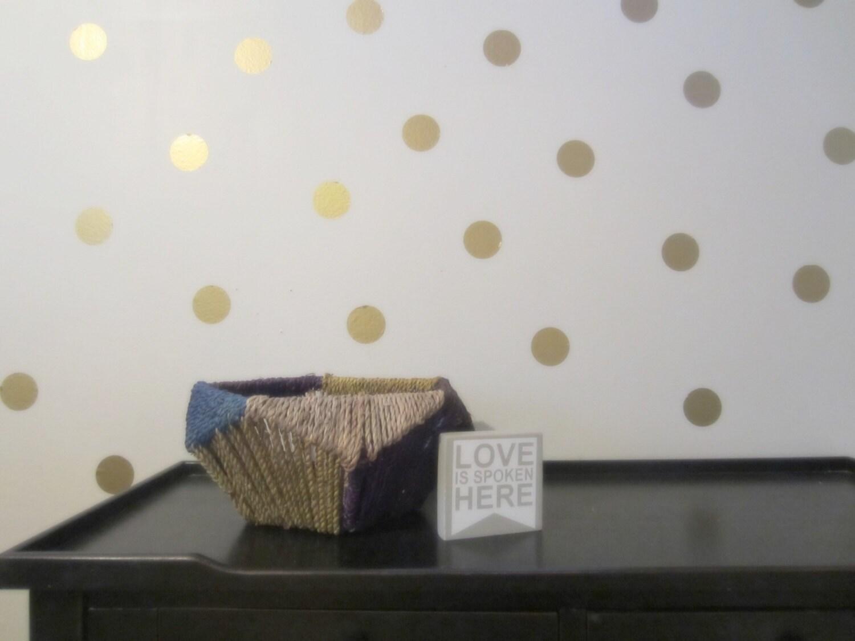 vinyl polka dots wall decal by jenniferenglishco on etsy. Black Bedroom Furniture Sets. Home Design Ideas