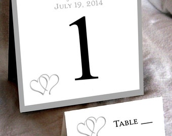 25 Hearts Table Numbers and 250 place settings