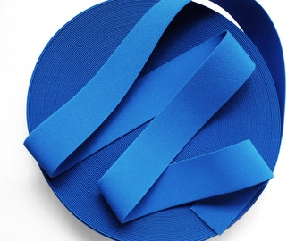 "2"" Water Blue Stretch Elastic Band. (5 Yards)"