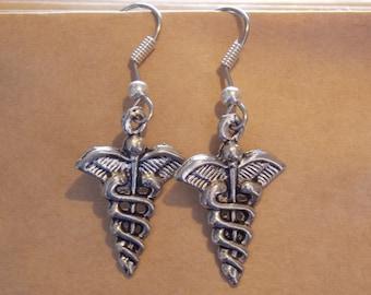 Gorgeous Geekery Caduceus Earrings