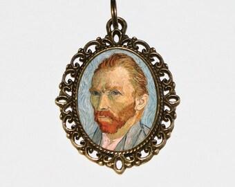 Van Gogh Necklace, Fine Art, Vincent Van Gogh Jewelry, Oval Pendant