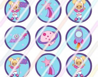 Space Girls 2 Digital Download 1 Inch Bottle Caps (4x6)