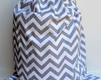 large aqua blue chevron laundry bag tote college dorm summer