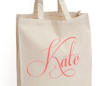 """Wedding Tote Bags """"The Capricco"""" Tote Bag, Gift bags, Bridesmaid bags, by Modern Vintage Market"""