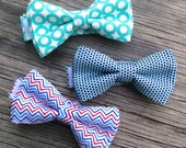 Red and White Bow Tie - Ties For Boys - Navy Bow Tie - Red and Blue Chevron Tie - Aqua Blue Bow Tie - Tie for Baby - Bow Tie for Men