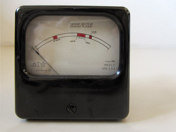 Antique Electrical Measuring Instruments : Vintage instrument for electrical measurements