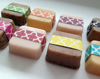 20 wedding soap favors in graphic style - wedding & bridal shower, wedding reception, baby shower soap favors