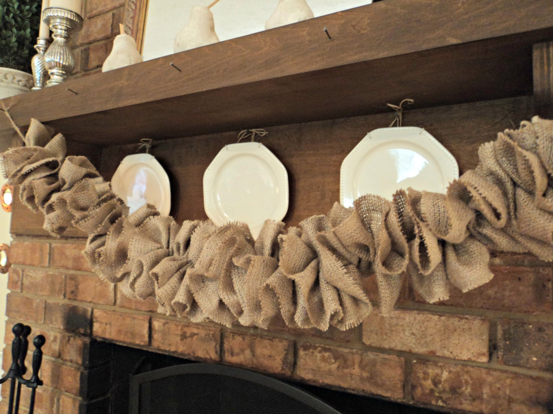Burlap Home Decor Ideas: Burlap Garland Burlap Wedding Garland Rustic Garland Gathered