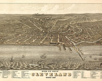 1877 Panoramic View of Cleveland