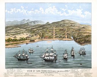 1847 Panoramic View of San Francisco