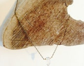 Quartz crystal necklace on chain 18 inches