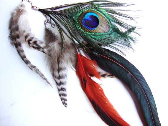 Custom feather clip in hair extension
