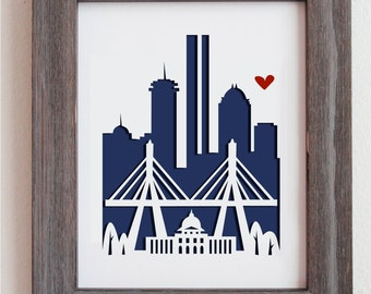 Boston, MA.  Personalized Gift or Wedding Gift