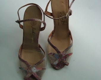 Pink disco dance shoes