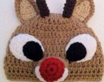 Adorable Rudolph Crochet Hat