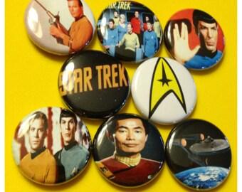 "8 Brand New 1"" ""Star Trek"" Button Set"
