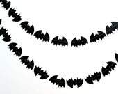 Black Paper Bat Garland, Fall Autumn, Boy Birthday, Batman Birthday Party, Batman Party Decor, Halloween Decor, Boys Room