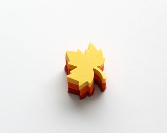 Small Maple Leaves Die Cuts - Yellow, Orange, Red Autumn Fall