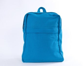 """CLEARANCE SALE  / Backpack No.1 / Medium / Ready to ship / Teal / Lined with Beige / Laptop compartment fit up to 13""""  MBP / Mr.highpants"""