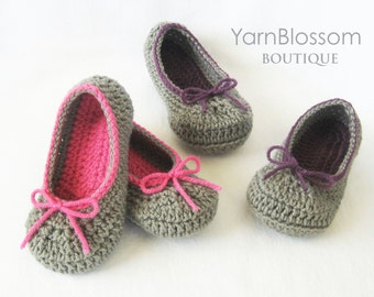 Toddler CROCHET PATTERN - The Kayla Slipper - 6 shoe sizes, crochet slippers shoes booties girl PDF Digital Download