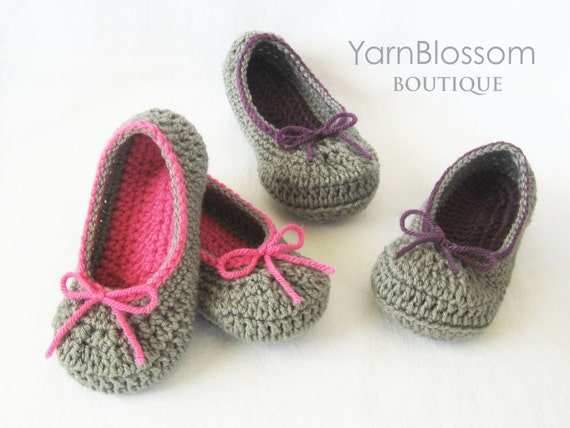 Crochet Patterns For Toddlers Slippers : Toddler CROCHET PATTERN The Kayla Slipper 6 shoe sizes