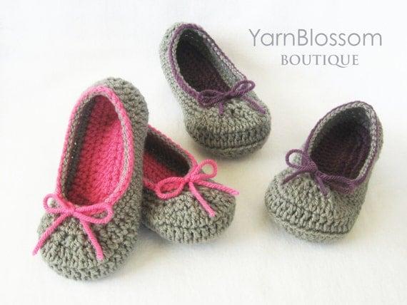Toddler CROCHET PATTERN The Kayla Slipper 6 shoe sizes