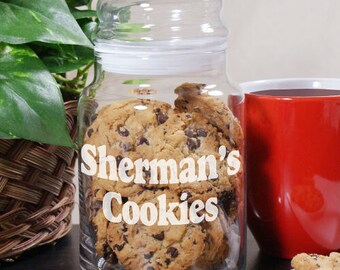 Engraved Any Message Glass Cookie Jar -gfy240734