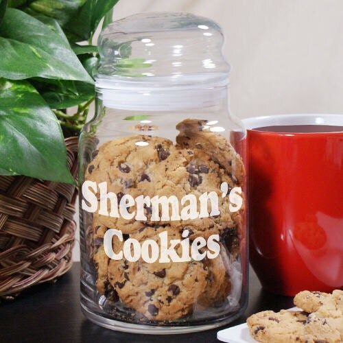 Engraved Any Message Glass Cookie Jar Gfy240734