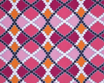 90051 Free Spirit Design Loft Kaleidoscope collection - Argyle  in denim color - 1 yard