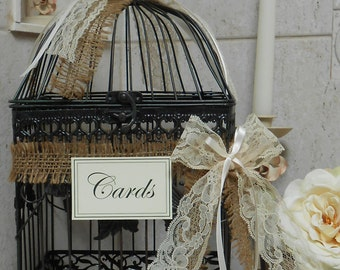 Birdcage Wedding Card Holder / Card Box / Wedding Cardholder / Rustic Wedding decoration / Wedding Decor