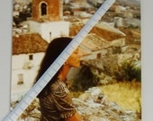 Vintage Photo: Girl Out of Breath in Hilly Scalea, Calabria, Italy 1973.