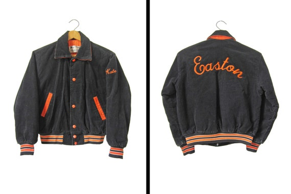 Vintage corduroy letterman jacket embroidered by memoryvintage