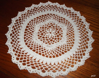 Crocheted White Doily (p19)