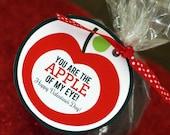 Apple Valentine DIY Craft Card Craft Digital Printable U PRINT Instant Download