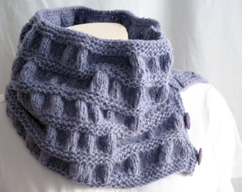 Knit yourself these Cowls - Knit Patterns Cowls Green Periwinkle DIGITAL PDF PATTERN