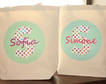 Girls Personalized Tote Bag