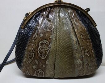 Vintage SNAKESKIN Handbag Shoulder Bag Purse, Argentina